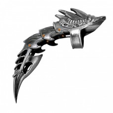 Decorative Dragon Tail Claw Iron Reaver Ring Knife Armor Finger 440 Stainless Steel No Blade