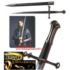 "A HOBBIT CRUSADER MEDIEVAL 42"" LIKE ANDURIL THE SWORD OF KING ELESSAR & SHEATH"