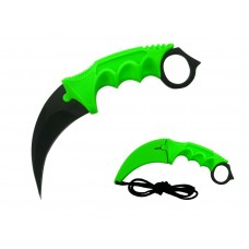 Lime Bio Green Karambit Knife Stainless Steel Fixed Blade Tactical Knife with Sheath and Cord Knife CSGO for Hunting Camping and Field Survival